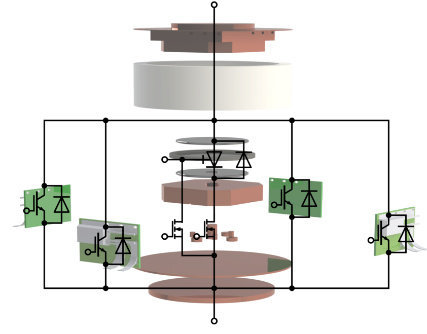 Schematic image of a hybrid switch